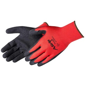 Textured Black Latex Coated Gloves