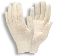 Natural String Knit White Gloves
