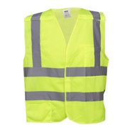 Class 2 Lime Mesh Safety Vest with Hook and Loop Closure