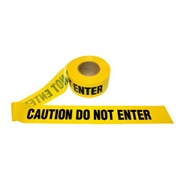 Yellow Caution Do Not Enter Tape