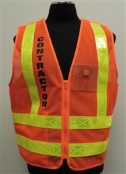 New York City Transit Class 2 Orange Contractor Vest