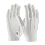 White Dress Gloves with Snap Closure