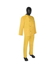 2-Layer PVC-Polyester 3-Piece Yellow Rainsuit