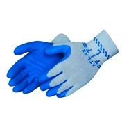 Atlas Blue Latex Palm-Dipped Gloves