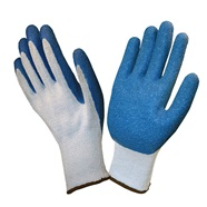 Blue Latex Coated Gloves