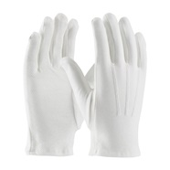 White Dress Gloves with Dotted Palm
