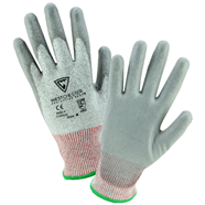 Gray Polyurethane Coated HPPE Gloves