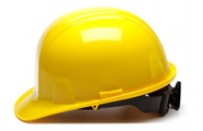 Pyramex Yellow 6-Point Ratchet Hard Hat