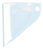 Extended View Clear Fibre-Metal Faceshield