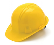 Pyramex Yellow 4-Point Snap Lock Hard Hat