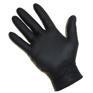 5 Mil Powder Free Black Nitrile Gloves