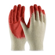 Cotton-Polyester Gloves with Smooth Latex Grip