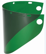 Dark Green Fibre-Metal Faceshield