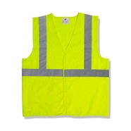 Class 2 Lime Solid Fabric Safety Vest