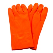 Insulated Orange PVC Gloves